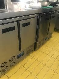 polar double door under counter fridge x2