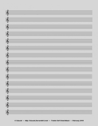Music Staff Paper Template Gorgeous Empty Sheet Music Treble Clef Trisamoorddinerco