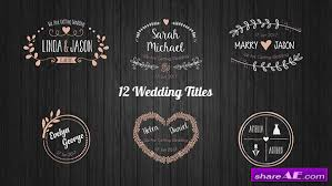 Wedding Title Wedding Free After Effects Templates After Effects Intro