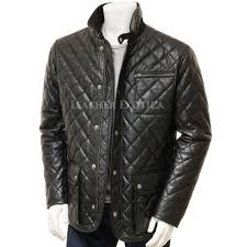 Men Black Quilted Leather Jacket &  Adamdwight.com