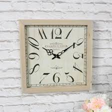 large vintage french wooden wall clock