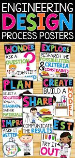 Stem Elementary Classroom Design Engineering Design Process Posters Elementary Stem