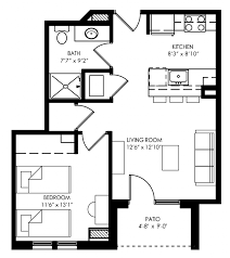 Small One Bedroom Apartment Floor Plans Remarkable Small One Bedroom Apartment Floor Plans Pictures