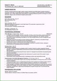 Sample Accounting Resume Objective Resume Objective Sample Exclusive Entry Level Accounting
