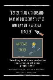 Education Quotes For Teachers Magnificent Awesome Teacher Notebook Journal With Quotes Thank YouR