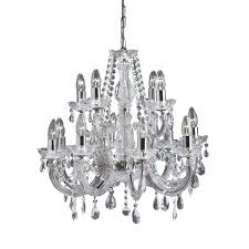 399 12 marie therese chrome 12 light chandelier with crystal dro