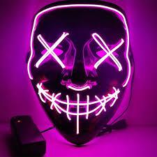 <b>LED Neon</b> Mask <b>Halloween</b> Party Masquerade Masks Light Glow In ...