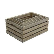 crates pallet nested crate set in weathered gray 5 pack