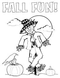 Small Picture Fall Fun Coloring Page
