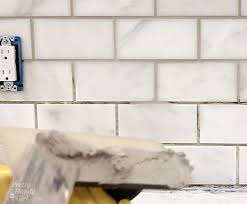 How To Grout Tile Backsplash Custom Design Ideas