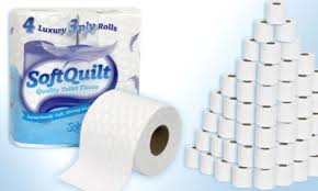 40 ROLLS OF SOFT QUILT 3 Ply Quilted Toilet Tissue Roll Rolls ... & 40 ROLLS OF SOFT QUILT 3 Ply Quilted Toilet Tissue Roll Rolls - Soft White/ Adamdwight.com