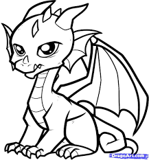 Small Picture Coloring Pages Draw A Simple Dragon Coloring Page