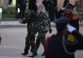 """Résultat de recherche d'images pour """"gardes du corps kadhafi femmes en hauts talons"""""""