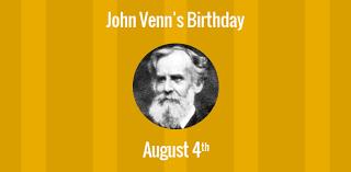 Birthday Venn Diagram Birthday Of John Venn Creator Of The Venn Diagrams