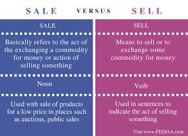 For Sale Or For Sell Difference Between Sale And Sell Pediaa Com