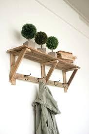 coat rack with shelf best ideas on wall recycled wood four hooks racks