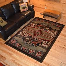 zoom horse themed throw rugs area large