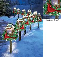 Outdoor Christmas Decoration Christmas Red Birds Outdoor Pathway Light Set Holiday Yard Decor