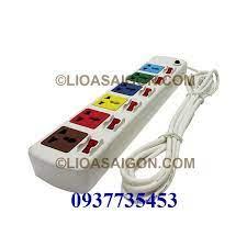 Ổ cắm điện LiOA 6 lỗ 3 chấu 6 công tắt LiOA 6DOF33WN - LIOASAIGON.COM