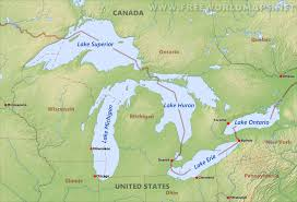 map of usa states great lakes  lapiccolaitaliainfo