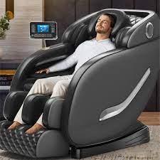 LCD ekran uzaktan kumanda lüks 4D ev sıfır yerçekimi masaj koltuğu ısıtma  koltuk tam vücut akıllı Shiatsu masaj koltuğu|Masaj Koltuğu