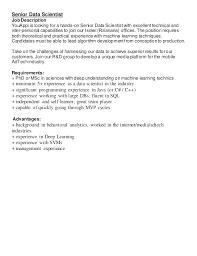 Senior Programmer Job Description Beauteous YouAppi RD Positions Job Description 48