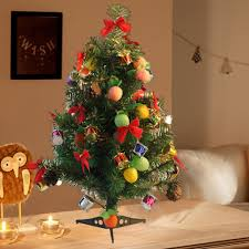 Mini Christmas Tree With Lights And Decorations Lohome 60cm 23 6 Mini Christmas Tree Artificial Tabletop