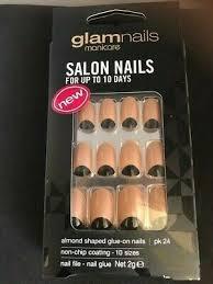 <b>Glam Nails</b> Manicare Glue On Nails complete Kit New Non-chip ...