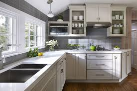 White And Gray Kitchen Kitchen Design Ideas Remodel Projects Photos