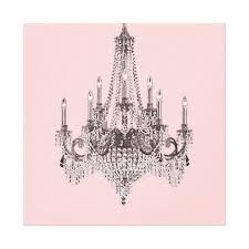 pink chandelier canvas wall art