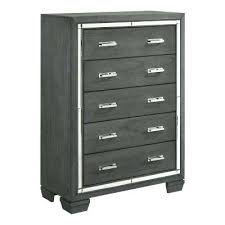 gray and white furniture. 5 Drawer Grey Chest Gray And White Dresser Bed N Furniture