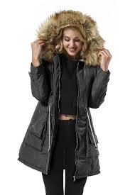 com yidarton women parkas jacket faux fur lined warm hooded winter coats clothing
