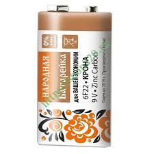 Купить <b>Элемент питания</b> 6F22 <b>Крона</b> Zinc Carbon 9V SH-1 ...