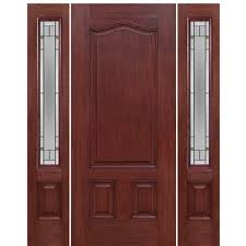 panel fiberglass entry door