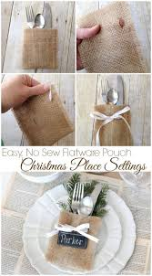 Christmas Place Settings {Easy, No-Sew Flatware Pouch) - Love of Family