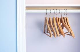 Empty closet no clothes stock image Image of hanging 13383417