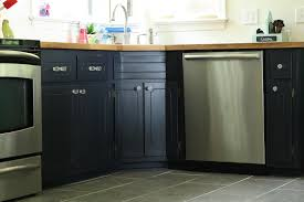 my coastal blue painted kitchen cabinets and ikea butcher block countertops