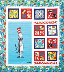 81 best Dr. Seuss fabric projects images on Pinterest   Quilt ... & Robert Kaufman Dr. Seuss The Cat In The Hat Quilt Kit. Adamdwight.com