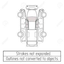 Car Pickup Truck Inspectio Form Drawing Outline Strokes Not Expanded ...
