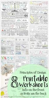 Principles Of Design Handout Principles Of Design Worksheet Packet 8 Instructional