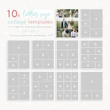 011 Photo Collage Template Photoshop Letter Size Templates