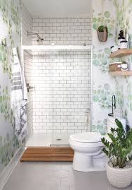 amazing removable wallpaper bathroom d i y h o m e guest makeover with tile idiy uk target for er canada lowe home depot australium sherwin william