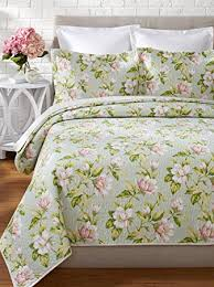 Amazon.com: Laura Ashley Carlisle Quilt Set, King, Mist: Home ... & Laura Ashley Carlisle Quilt Set, King, Mist Adamdwight.com