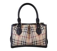check small. Burberry Brown Small Haymarket Check Tote Bag. Zoom