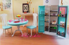 dollhouse dining room furniture. dinner tea table chair refrigerator set dollhouse dining room furniture accessories decoration for barbie kurhn e