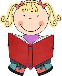 Image result for kid reading a book clipart
