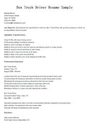Objective On Resume Sample Truck Driver Resume Goal Truck Driver