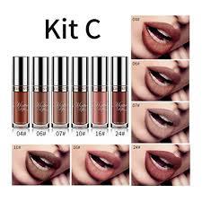 jujunx 6pcs set y long lasting waterproof ultra matte liquid lip gloss cosmetic beauty makeup c