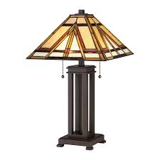 quoizel gibbons 22 5 in russet table lamp with tiffany style shade