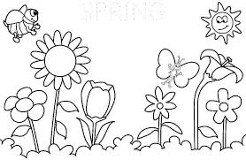 spring coloring page coloring pages printable spring kids spring coloring pages of spring season coloring pages